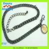 fashionable daisy gunmetal alloy metal linkchain chain belts women fashion costume clothing accessory