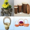 round and quare multifunction willow basket in natural color