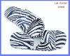 Fashion handmade zebra stripe new design fashion slippers