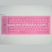 lovers silicone rubber keyboard in fashionable style