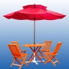 Wooden Outdoor Garden Umbrella