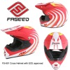 ABS shell Off-road motorcycle helmet with ECE approved FS-601 fashion design
