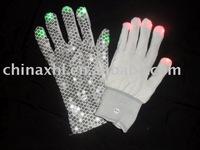 Solid color-LED Gloves