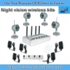 4 channel quad picture 2.4GHz wireless network dvr