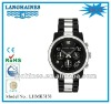 2012 luxury alloy band two tone steel back japan chorongraph unisex watch LHMK5158