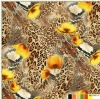 fashion rose and animal leopard skin heat transfer printing paper and fabrics for garments