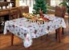 100% polyester Christmas designs printed tablecloth