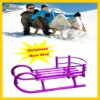 wooden snow sledge with baby backrest