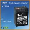 JIMING Sealed Lead acid battery:6V 3.2Ah