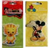 cartoon paper car air freshener with header