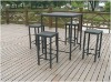 Modern rattan tables and chairs for bar