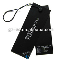 Black Printed Price Tag Clothing Label