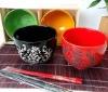 """5.5"""" 4pcs Porcelain Janpanese Noodel Bowls 6H2059"""
