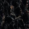600X600MM Dark Color Black Portoro Extra Glazed Polished Porcelain Marble Stoneware Floor Tile FE6081
