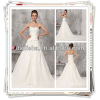 355T Beaded Sequins Pleats Ruching 2013 swarovski crystal wedding wear dress