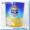 stand up plastic with zipper lock milk power bag,water bag,gusset bag