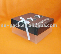 pp plastic box with ribbon