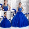 TC33424 Beaded Sleeveless Halter Ball Gown Cinderella Dresses For Girls