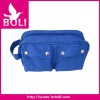 2012 zipper handbag tote lady gift promotional bagfashion wrinkle fabric cosmetic bag (BL54138CB-C)