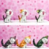 New Design Carton Cat Mobile Dustproof plug for iphone 4 4S