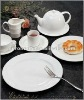 White ceramic restaurant tableware dinnerware set 25