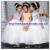Colorful Satin Top Flower Girl Tulle Dress With Tulle Ball Skirt YBFD-0093