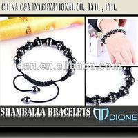 2012 fashion crystal ball shamballa bracelet