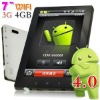 7inch Android4.0 3G tablet pc with LCD capacitive touch screen phone call function Dual camera Boxchip Tablets