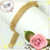 women's 24K handmade yellow copper gold plated chains