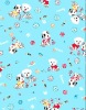 100% cotton fabric for bedding, clothes and decoration, cartoon design little dog pattern