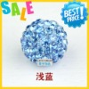 cheap wholesale shamballa beads free shipping 100% new high quality newest shamballa beads with crystal and clay