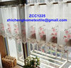 organza embroideried window curtain