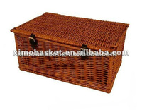 wicker hamper basket with lid
