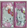 Hello kitty notebook/cartoon diary / lovely 32k Laser print cover coil book