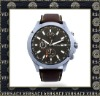 Large Face Men Leather Watch