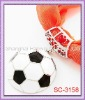 Hard To Find!!!! SC-3158 Soccer Scarf Ball Accessory With Black & White Enamel