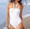 all-white woman swimwear bikini