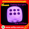 7 colors changed flashing party dice light