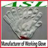White Cotton Working Glove