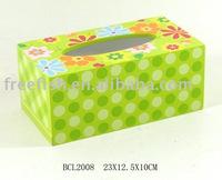 kids flower wooden tissue box