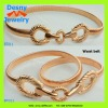2012 trendy Hollywood fashion costume dressing jewelry women female rose gold tone metal alloy waist clothing belt
