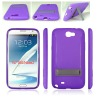 For Samsung Galaxy Note 2 N7100 TPU cellular Phone Case with Stand