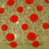 satin tape embroidery fabric