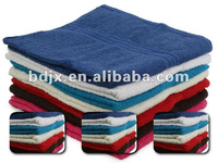 100% cotton plain color cheap bath towel