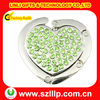 Green crystal portable bag hanger