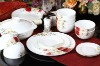 GH-DS-02 Bone china dinner sets with rose design