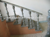 Green Decorative Stone Stair Balustrade Roman Column
