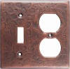 copperoutlet and toggle switch plate combination