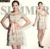 2012 New Arrival Woman Short Sleeve Chiffon Floral Print Dress 06122095