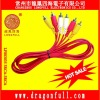 a/v input output assembled cable/wire/lead/cord top dragon brand